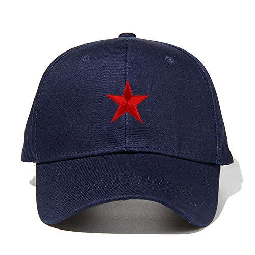 Bidesign - Gorra de béisbol con diseño de estrella de cinco puntas, color rojo
