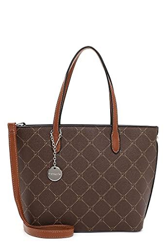 Tamaris Shopper Anastasia 30106 Damen Handtaschen Karo brown/cognac 207 One Size