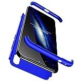 FHXD Compatible con Funda Xiaomi Redmi 7/Redmi Y3 Anti-Shock 360° Carcasa Case Cover Protectora [Protector de Pantalla] Ultra Thin Anti-Scratch 3 in 1 Caso Cáscara Protectora-Azul