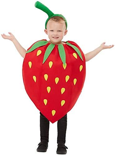 Funidelia | Disfraz de Fresa para niño y niña Talla 4-10 años ▶ Fruta, Comida - Rojo