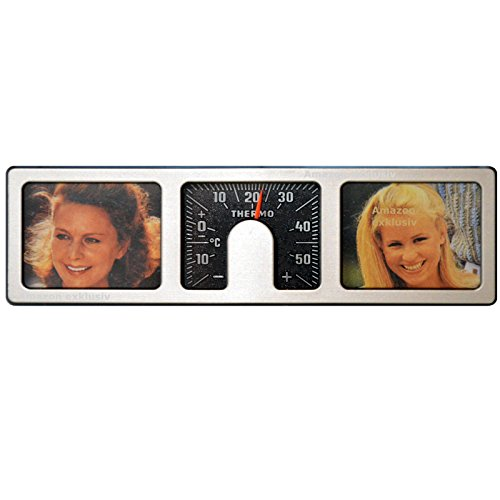 Historischer Fotorahmen Bilderrahmen GUTE FAHRT mit Thermometer aus 1981 Art. 9822
