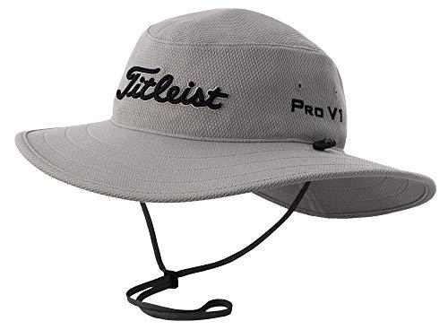 Titleist Men's Tour Aussie Golf Hat, Grey/Black