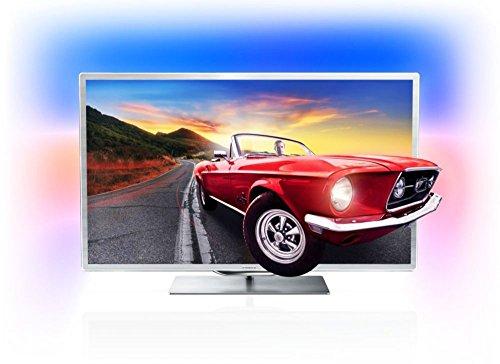 Philips 46PFL9707S/12 117 cm (46 Zoll)Full HD, 3D-Smart LED-Fernseher, Energieeffizienzklasse A (Full-HD, 1200 Hz PMR, 3D Max, DVB T2/C/S2,Smart TV), silbern