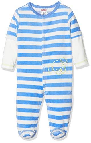Playshoes Baby-Unisex Schlafoverall Nicki Ringel Hund Schlafstrampler, blau, 56
