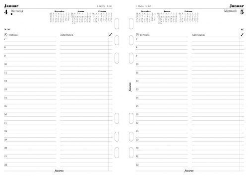 Filofax 6854616 A5 Multi 1 Tag auf 1 Seite, deutsch 2016 Kalendereinlage, weiß