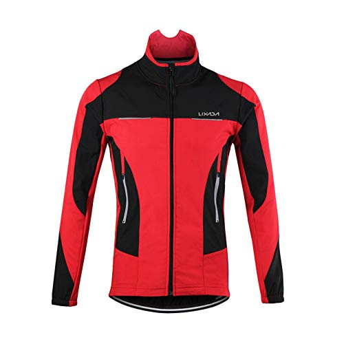 Lixada メンズ 長袖 サイクルジャージ 自転車春秋用 サイクルジャージ サイクルライドジャージ ウェアセット 品質保証 吸汗 伸縮 速乾 通気