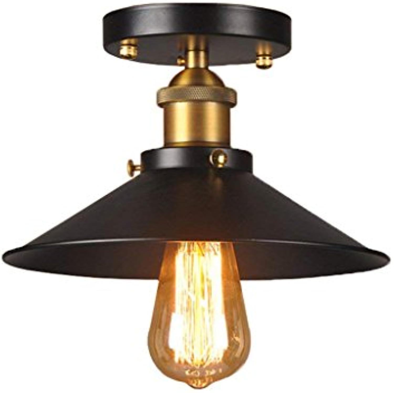 XHJJDJ Loft Retro in ferro battuto Plafoniere Vintage Plafoniera Home Lighting Plafoniera Soggiorno Plafoniera da soffitto E27 (gre   30cm in diameter)
