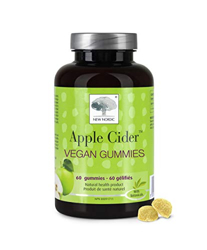 New Nordic Apple Cider Gummies | Vegan Chewable Wellness Supplement | No Vinegar Taste | 60 Count