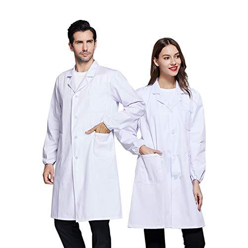 Blesser Bluse, weiß, für Damen und Herren, Baumwolle, Medizinische Bluse, Unisex, Laborkittel,...