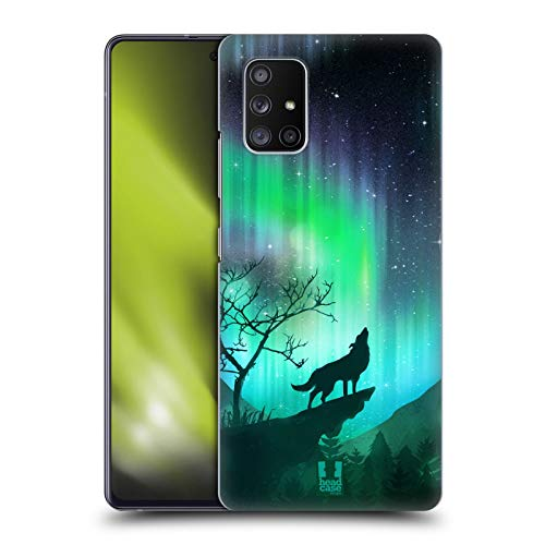 Head Case Designs Howling Wolf Northern Lights Hard Back Case Compatible with Samsung Galaxy A51 5G (2020)