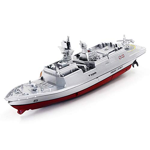 MYRCLMY RC Boat con Control Remoto 2.4Ghz Control Remoto De Control Remoto Portador De Aviones Buque De Guerra Battleship Cruiser Barco De Alta Velocidad RC Racing Toy,C