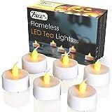 Lumini LED senza fiamma tea light - Candele bianche a batteria con tremolio realistico di ...