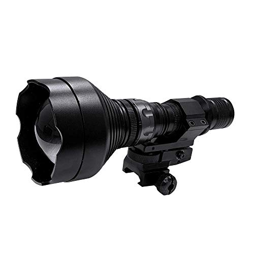 ATN IR850 Supernova Infrared Illuminator for hunting, law enforcement, search & rescue and military use, includes IR Illuminator, Easy rail mounting system, single lithium battery and battery charger