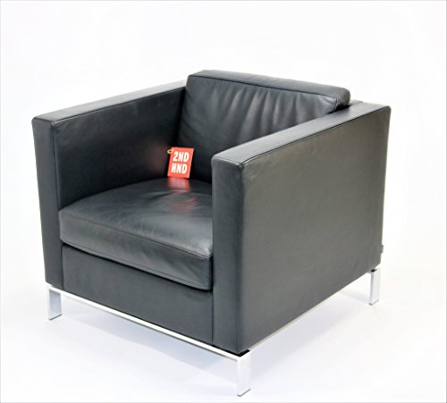 WALTER KNOLL Norman Foster Single Seater Black Leather