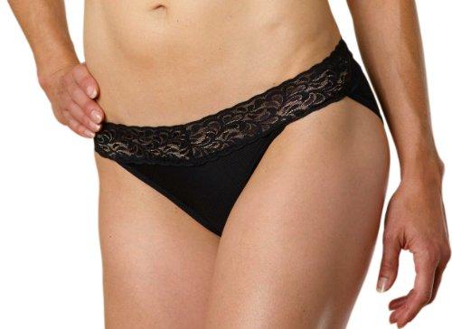 ExOfficio Women's Give-N-Go Lacy Low Rise Bikini Brief, Black, Small