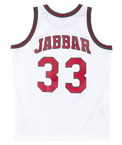 Kareem Abdul-Jabbar Milwaukee Bucks Men's White 1971-72 Swingman Jersey (Large)
