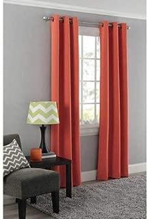 Mainstay Blackout Energy Efficient Grommet Curtain Panel, 40x63 Orange