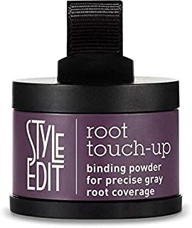 Estilo Edit Root Touch Up Brunette Beauty de cobertura de raíces corrector de coberturas de color gris, pulse polvo de color de pelo, Oscuro
