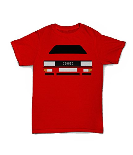 Red Audi Quattro T-shirt for Men, S to XXL