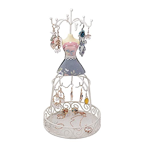 Yodio Resin Tree Stand Jewelry Display Necklace Earring Bracelet Holder Organizer Rack Tower (white)