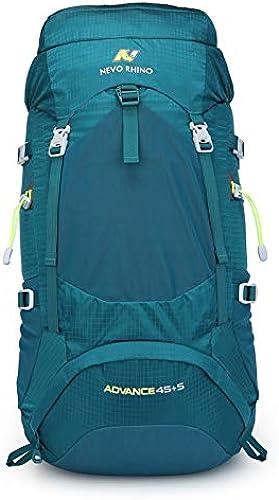 RQWY Sac à Dos 50l Sac à Dos étanche pour Hommes Unisexe Voyage Pack Sac Randonnée en Plein Air Alpinisme Escalade Sac à Dos