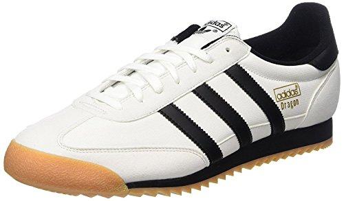 adidas Dragon OG Trainers, Chaussures de Fitness Homme, Multicolore - Blanc/Noir (Ftwbla/Negbas / Gum2), 36 EU