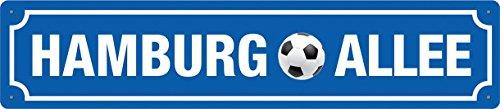 HAMBURG ALLEE - Blechschild Straßenschild 46x10 cm STR 125