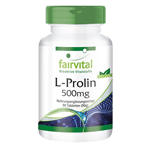 L-Proline tabletten 500 mg - HOOG GEDOSEERD - VEGAN - 90 tabletten - aminozuur
