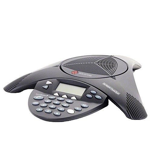 Polycom SoundStation 2 - Teléfono de conferencias (con pantalla, permite el uso de micrófonos)