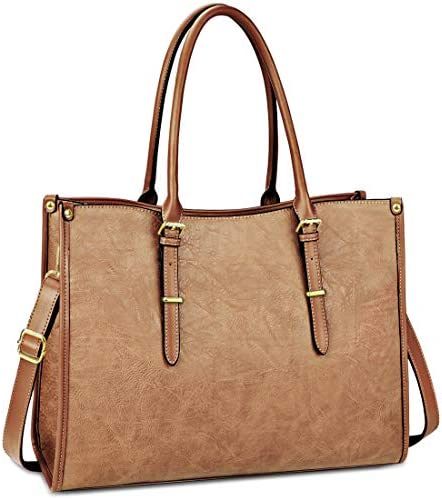 Laptop Bag for Women 15 6 Inch Waterproof Lightweight Leather Laptop Tote Bag Womens Professional product image