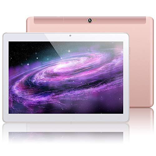 KUNWFNIX Tab Q10 - Tablet de 10 pulgadas, Android 8.1 (certificado GMS), con procesador Quad Core, 2 GB de RAM 32 GB de ROM, 128 GB de memoria ampliable, cámara dual, Wi-Fi, GPS, tabletas 3G