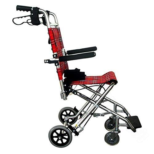 WLG Ligero Plegable Silla de Ruedas Conducción Médica, Silla de Ruedas Niños discapacitados Ancianos Silla de Ruedas