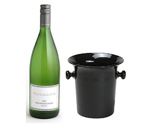 Dreissigacker Weissburgunder Weißwein Qba tr. 2011 12,5% 1,0l Fl. in Wein Kübel
