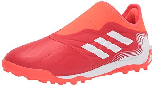 adidas Men's Copa Sense.3 Laceless Turf Soccer Shoe, Red/White/Solar Red, 10