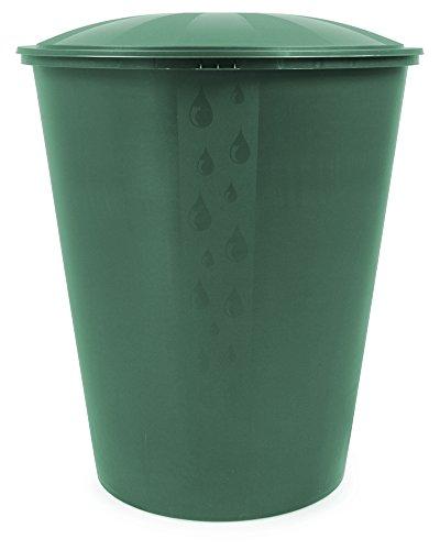 Ondis24 Wassertank Regenwassertonne Regenwasserfass Fass Aqua Regentonne mit Deckel Ecotank grün 310 Liter, Ständer separat erhältlich