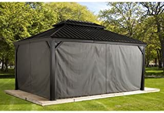 Sojag Messina Sun Shelter Curtains, 12 ft. x 20 ft.