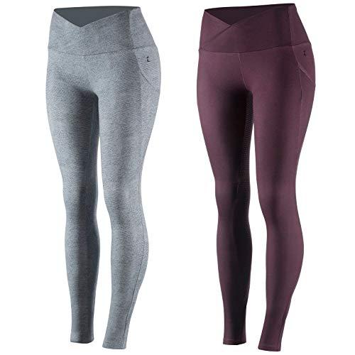 netproshop Damen Bequeme Sommer Schlüpf Reithose Leggings-Style mit Vollbesatz, Farbe:Bordeaux, Damengroesse:34/36