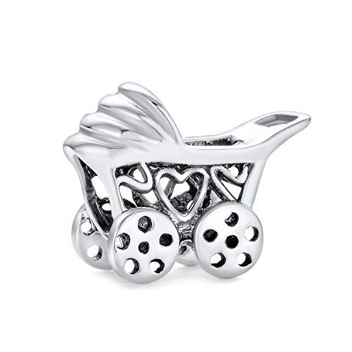 Neue Mutter Zu Sein Neue Mutter Kutsche Kinderwagen Charm Perle Für Frauen 925 Sterling Silber Passt Europäische Armband