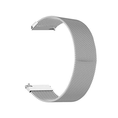 XXY Reloj De Reloj 18 Mm 20 Mm 22 Mm Pulsera De Reemplazo De Banda De Correa De Acero Inoxidable De Plata para Reloj Inteligente (Color : Silver, Size : 20mm)