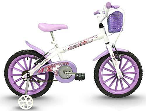 Bicicleta, Track Bikes, Aro 16, Pinky, Branco e Lilás
