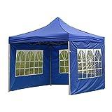 Pavillon Schatten Stoff Oxford-Tuchzelt-Tuch Outdoor-Klappregen-Regen-fassendes Zelt wasserdicht Winddicht und dauerhaft for das meiste Pavillonzelt (Color : with Windows 3M)