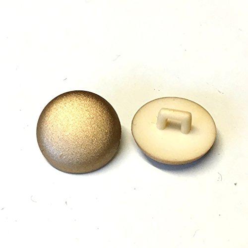 20 stuks, 15 mm ronde gouden glinsterende knopen met achterschacht