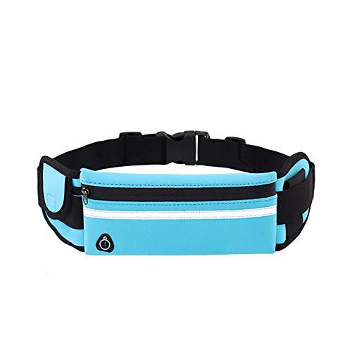 FTYU Marsupio Sportivo da Corsa, Marsupio Impermeabile da Cintura, Tasche Con Cerniera, Strisce Riflettenti E Cinturini Regolabili per Gli Sport Allaria Aperta