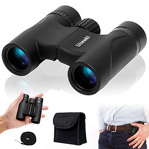 Compact Binoculars, 10X25 HD Binoculars for Adults and Kids BAK4 Prism FMC Lens Waterproof with Low Light Night Vision for Bird Watching, Stargazing, Outdoor Hiking, Travelling, Hunting
