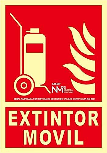 Normaluz A00407 brandblusser, klasse A, PVC, 1 mm, 21 x 30 cm, met CTE, RIPCI en geschikt voor de nieuwe wetgeving