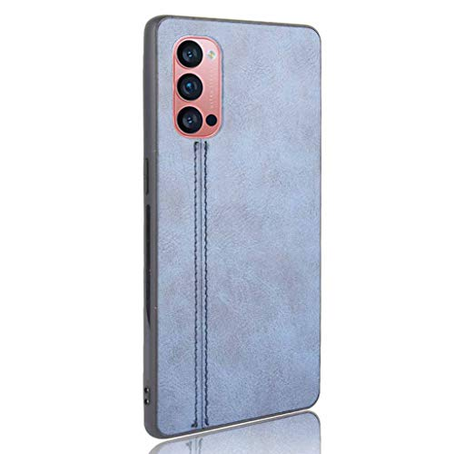 GOGME Hülle für Oppo Reno 4 Pro 5G (Oppo Reno4 Pro 5G) Hülle, Ultra-Slim Silikon Handyhülle Leder-Erscheinungsbild Retro Schutzhülle, Stoßfeste Handy-Tasche für Oppo Reno 4 Pro 5G (Oppo Reno4 Pro 5G), Blau