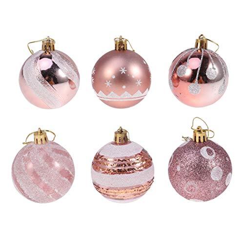 Navidad Decoración Arbol Rosa Marca Amosfun
