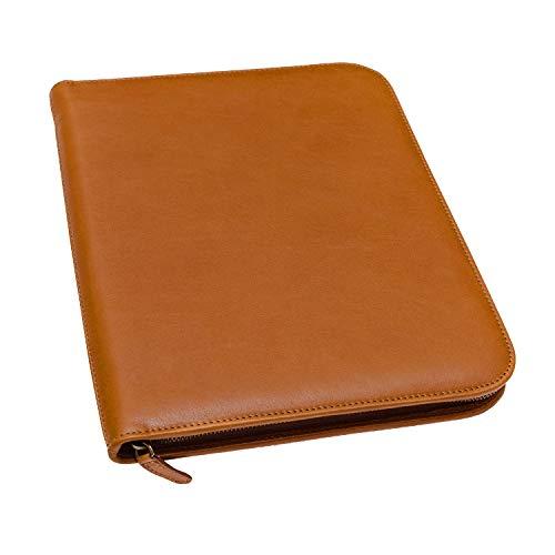 Maruse Leder-Padfolio A4, luxuriöse Ledernotizmappe, Dokumentenmappe, Brieftasche – In Italien hergestellt (Honey)