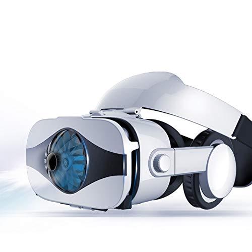 LAHappy 3D VR Gafas de Realidad Virtual VR Glasses, Auriculares Incorporados, Excelente disipación de Calor, 112 Grados FOV Botón, para Los Móviles de Pantalla 4.0-6.33 Pulgadas