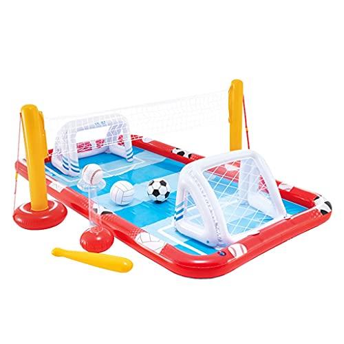 HYXSHOP Castello Gonfiabile per Bambini con Ventilatore Campo da Calcio Gonfiabile in Acqua Piscina per Bambini All'aperto Giocattolo Preferito dai Bambini Campo da Calcio Mobile